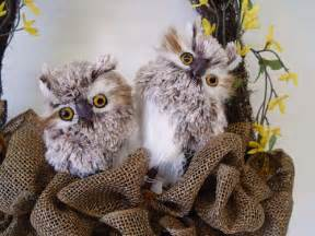 new feathered owls from raz trendy tree blog