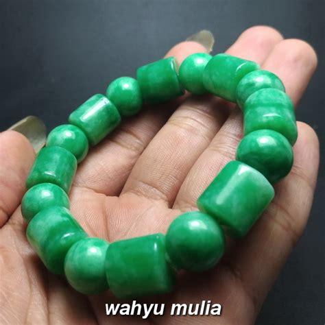 gelang batu giok hijau asli kode 854 wahyu mulia