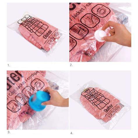 Kantong Vakum Baju Vacuum Compression Bag kantong vakum baju vacuum compression bag size l transparent jakartanotebook