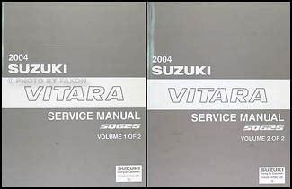 online car repair manuals free 2004 suzuki vitara user handbook 2004 suzuki vitara repair shop manual set original