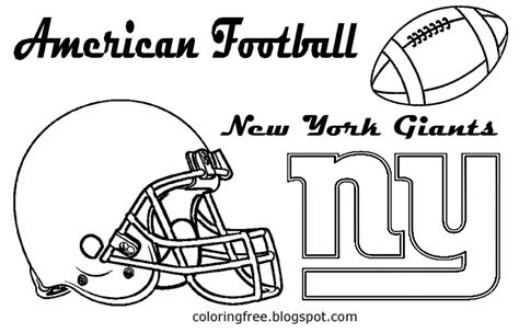 nfl giants coloring pages ny giants free coloring pages