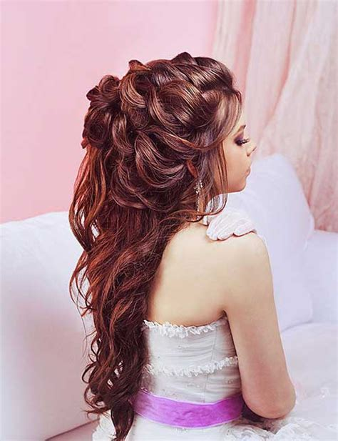 Wedding Hair Half Up Accessories by 15 Half Up Half Bridal Hair Hairstyles Haircuts