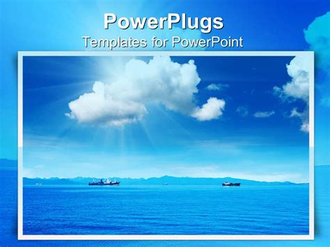 templates powerpoint sea powerpoint template framed depiction of beautiful blue