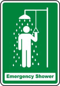 emergency shower sign emergency shower sign by safetysign d4673