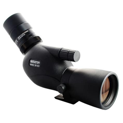 opticron mm3 12 36x50 ed spotting scope angled with sdl