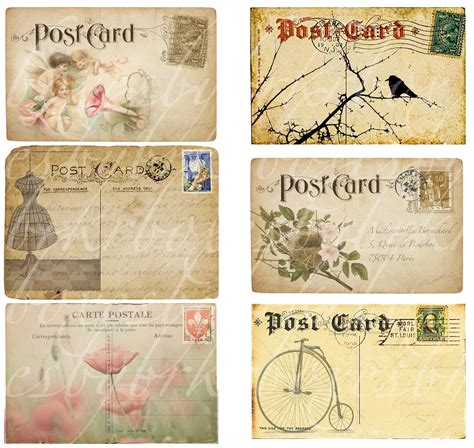 vintage postcards 8 best images of printable vintage postcards free