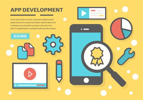 application design vector free app development vector background download free