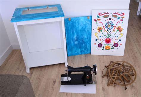 ideas faciles para coser a maquina mueble de m 225 quina de coser antigua restaurada