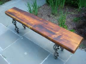 Coffee Table Bench Reclaimed Wood Bench Coffee Table With Steel Base By Surthrival