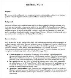 briefing memo template sle briefing note 5 documents in pdf word