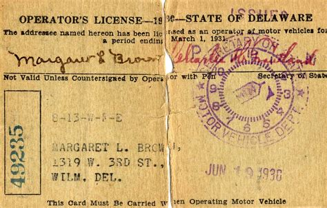 Delaware Marriage License Records New Secure Federal Driver S License 171 Delaware Archives