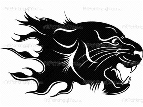 Wall Stickers Tribal Tiger Silhouette (1058en)