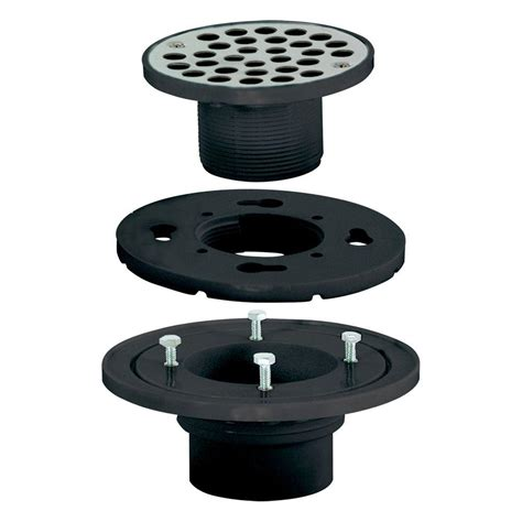 Low Profile Shower Drain For Solid Floors by Ez Flo 2 In X 3 In Abs Low Profile Floor And Shower