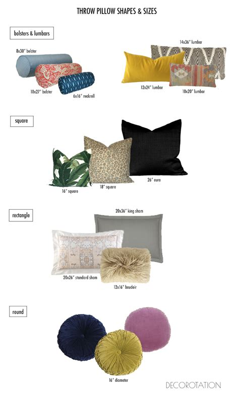 Pillow Sizes For Sofa How To Choose Throw Pillows Sizes And Shapes On The