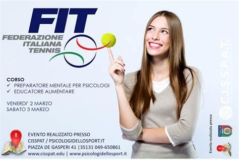 corso educatore alimentare fit federazione italiana tennis corsi di preparatore