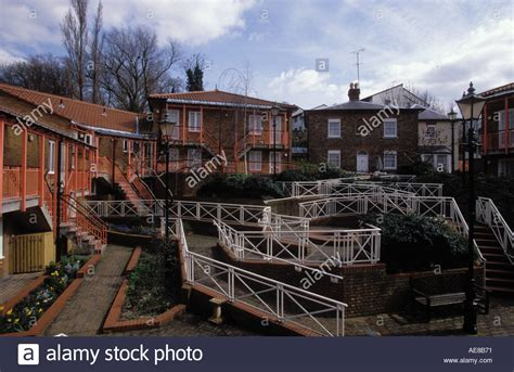 sheltered housing to buy council sheltered housing for the elderly with wheelchair access stock photo royalty
