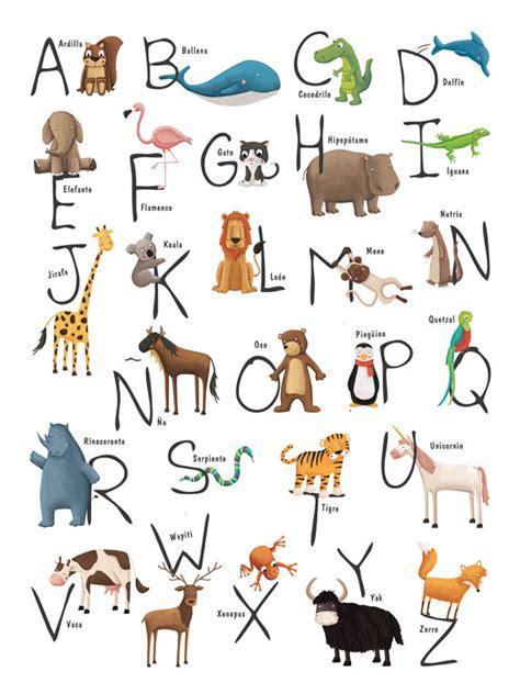 imagenes en ingles en orden alfabetico abecedario con animales en espa 241 ol aprendiendo learning
