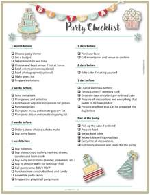Printable To Do List Party Planning Template