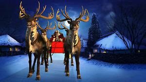 rooftop santa sleigh with reindeer reality santa reindeer window roof dvd projection disc ebay