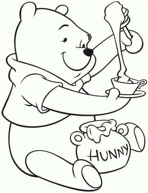 Winnie The Pooh Coloring Pages Printable 1000 Images 1000 Coloring Pages To Print