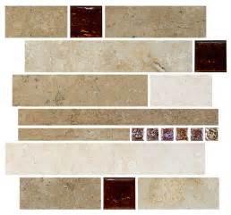 travertine subway brown glass kitchen backsplash tile 12