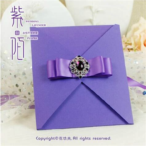 purple wedding invitations boxes 2014 elegant purple wedding invitations with luxury