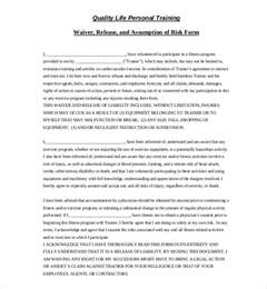 fitness waiver and release form template sle liability release forms 10 free documents in pdf