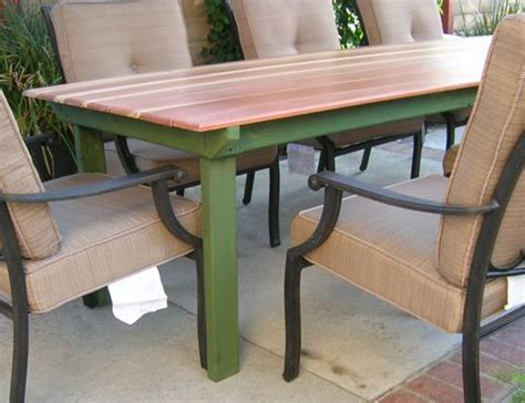 Patio Table Designs Refnishing A Table Top