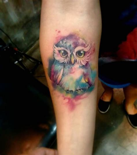 watercolor tattoo owl best 25 watercolor owl tattoos ideas on