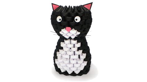 How To Make A 3d Origami Cat - 3d origami cat tutorial