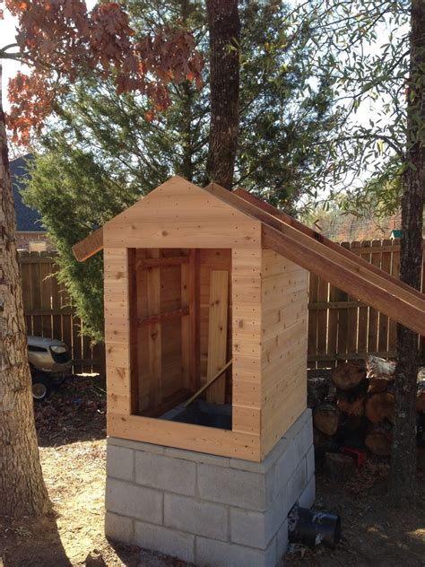 cedar smokehouse construction diy project