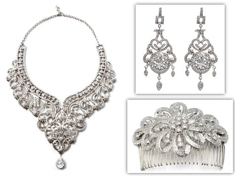 Chandelier Jewelry Dazzling Statement Bridal Necklace Chandelier Earrings And Hair Comb Onewed