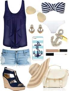 Blue Cute Summer Outfits Polyvore