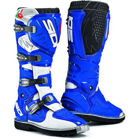 Sidi Charger Mx Enduro Motocross Boots Blue 8 42 Ebay
