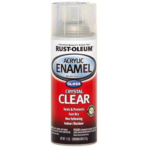 shop rust oleum automotive clear enamel spray paint actual net contents 12 oz at lowes