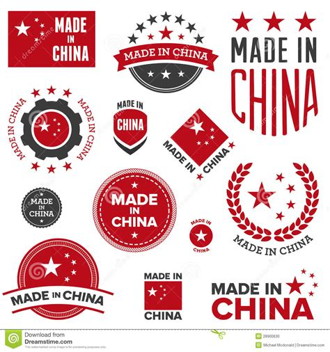 Made In by Made In China Designs Stock Vector Image Of Authentic