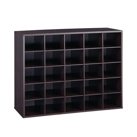 shoe storage organizer 25 pair shoe shelf organizer wooden espresso closet