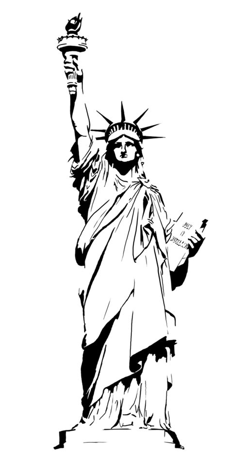 Statue Of Liberty Drawing Template statue of liberty drawing outline clipart cliparting
