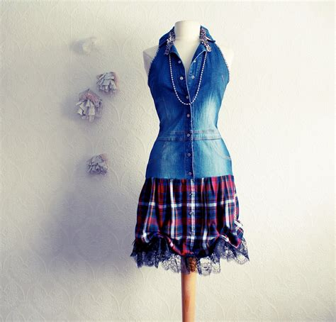 upcycling dresses s plaid dress upcycled clothing rocker school
