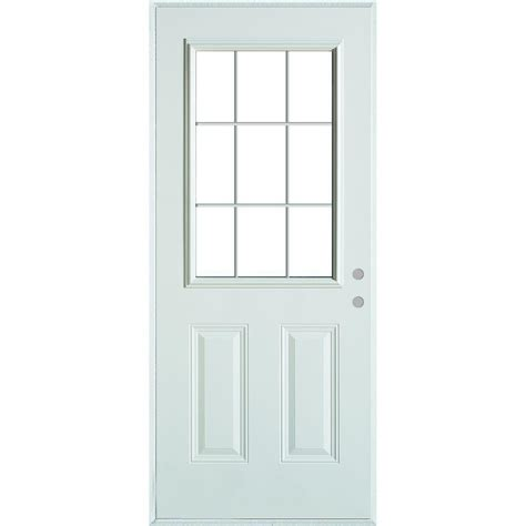 home depot paint for metal doors stanley doors 36 in x 80 in colonial 9 lite 2 panel