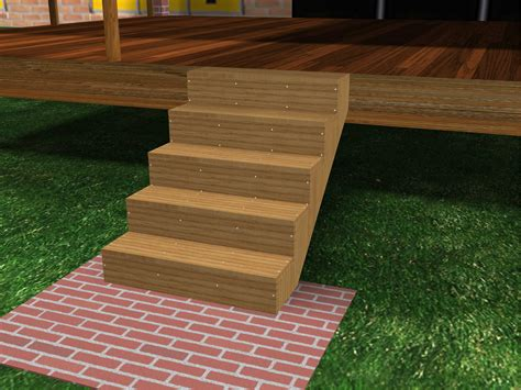 How To Build Porch Steps From Wood how to build porch steps 13 steps with pictures wikihow