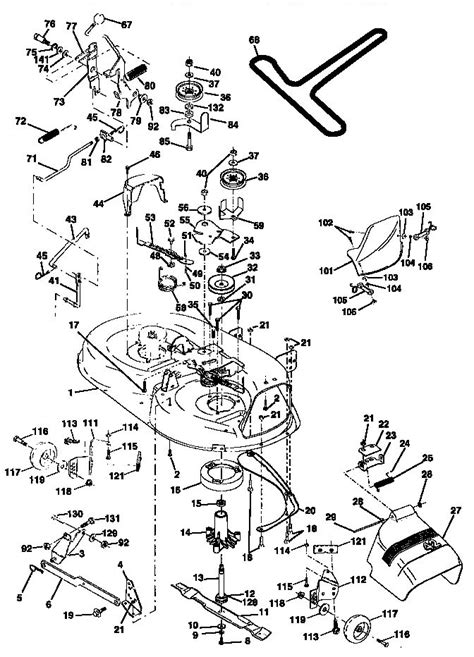 craftsman lt1000 mower deck diagram mower deck diagram parts list for model 917270810