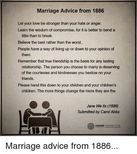 Agostina marriage advice