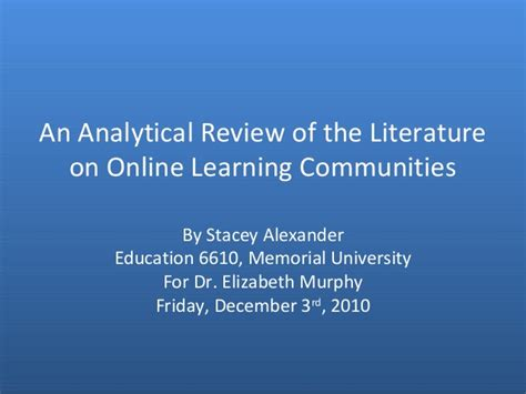 Upes Distance Mba Review by An Analytical Review Of The Literature On Learning