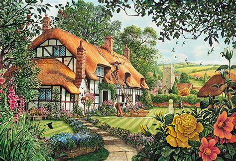 Large Cottage House Plans the summer thatchers photograph by steve crisp