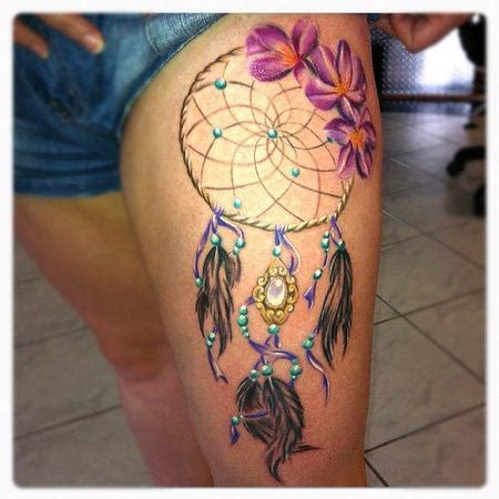 colorful dreamcatcher tattoos 56 awesome colorful dreamcatcher tattoos