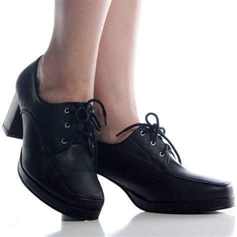high oxford shoes black lace up high heel oxford shoes black lace up
