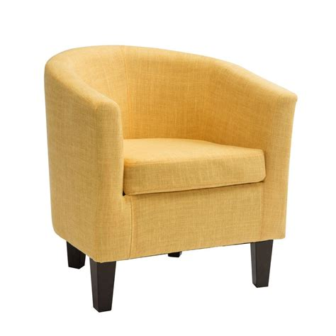 patterned fabric tub chairs corliving antonio yellow fabric tub chair lad 788 c the