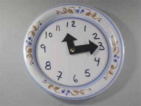 How To Make A Clock With A Paper Plate - how to make an easy paper plate clock for ep