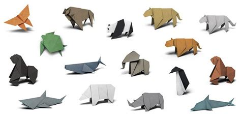 Folded Paper Animals - 25 best ideas about origami animals on easy